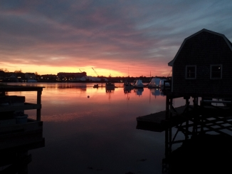 Portsmouth, New Hampshire pulled out the red carpet sunset during one of my last evenings in town.