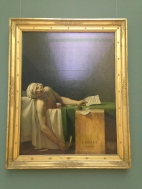Jacques Louis David's famous painting: Death of Marat