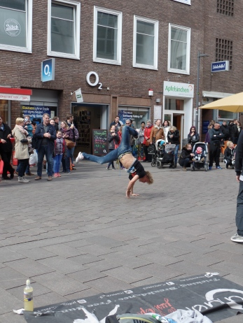 Quite the acrobatics to be found in Lübeck!